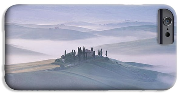 Mist iPhone Cases - Tuscany, Italy iPhone Case by Panoramic Images
