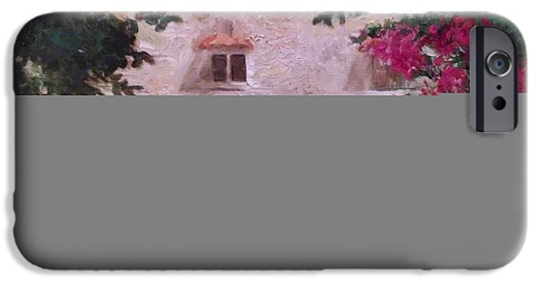 Buildings Mixed Media iPhone Cases - Tuscany Sun iPhone Case by Kathy Knopp