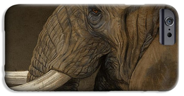Elephants iPhone Cases - Tusker iPhone Case by Aaron Blaise
