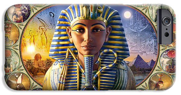 Cleopatra iPhone Cases - Tutankhamun Landscape iPhone Case by Andrew Farley