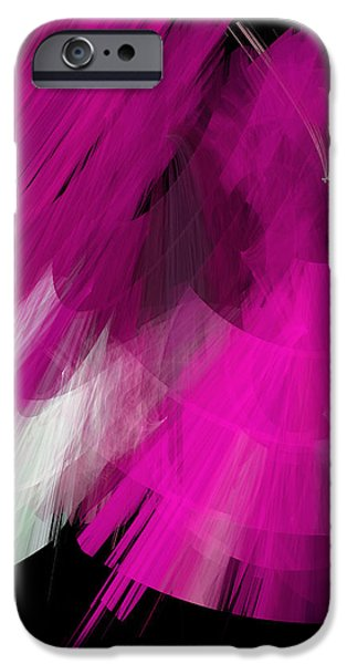 TuTu Stage Left Abstract Fuchsia iPhone Case by Andee Design