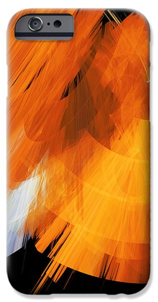 TuTu Stage Left Abstract Orange iPhone Case by Andee Design