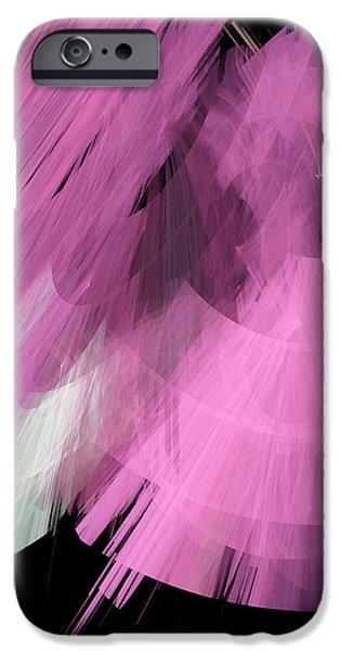 TuTu Stage Left Abstract Pink iPhone Case by Andee Design