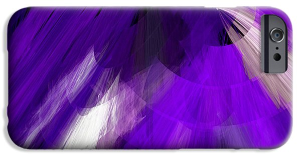 Tutu Stage Left Abstract Purple iPhone Case by Andee Design