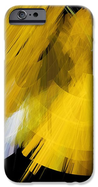 TuTu Stage Left Abstract Yellow iPhone Case by Andee Design