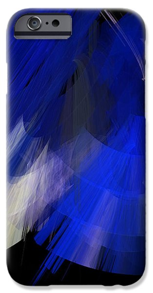 TuTu Stage Left Blue Abstract iPhone Case by Andee Design