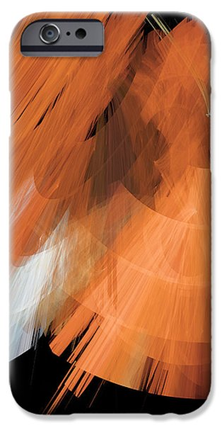 TuTu Stage Left Peach Abstract iPhone Case by Andee Design