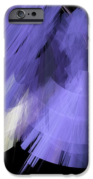 TuTu Stage Left Periwinkle Abstract iPhone Case by Andee Design