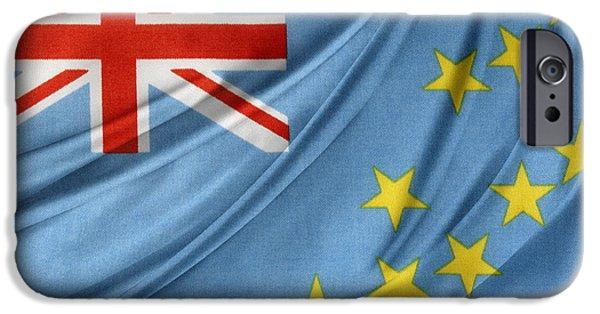Patriotism iPhone Cases - Tuvalu flag iPhone Case by Les Cunliffe