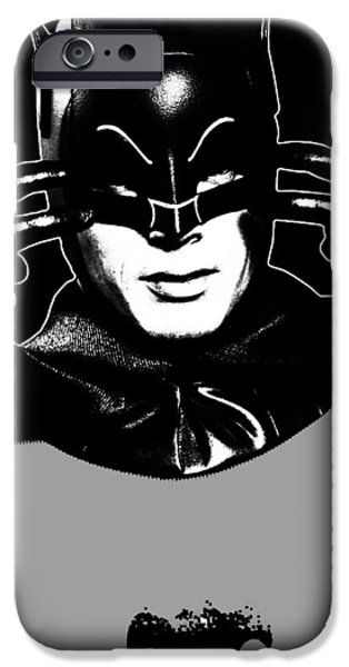 TV Batman Adam West iPhone Case by Tony Rubino