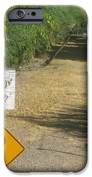 TV movie homage Killer Bees 1974 B's Crossing Black Canyon City Arizona 2004 iPhone Case by David Lee Guss