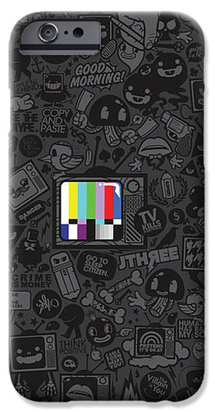 TV Noise iPhone Case by Gianfranco Weiss
