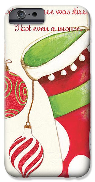 Xmas iPhone Cases - Twas the Night...2 iPhone Case by Debbie DeWitt