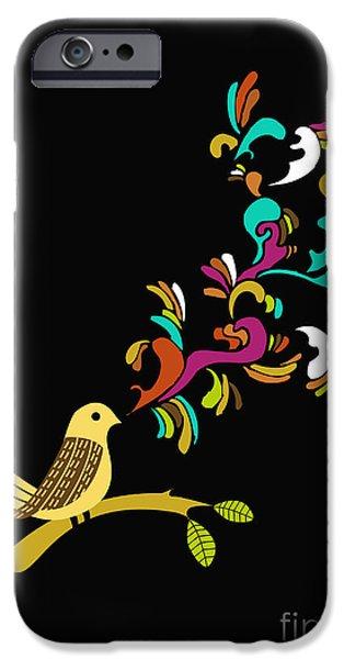 Birds iPhone Cases - Tweet tweet iPhone Case by Budi Satria Kwan