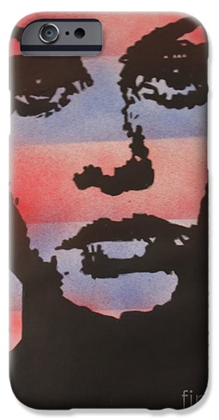 Twiggy Paintings iPhone Cases - Twiggy iPhone Case by John Halliday