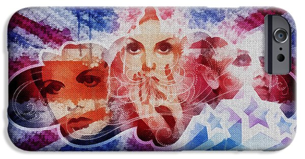 Revolution Mixed Media iPhone Cases - Twiggy iPhone Case by Mo T