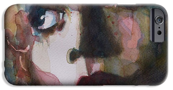 Lips iPhone Cases - Twiggy Where Do You Go My Lovely iPhone Case by Paul Lovering