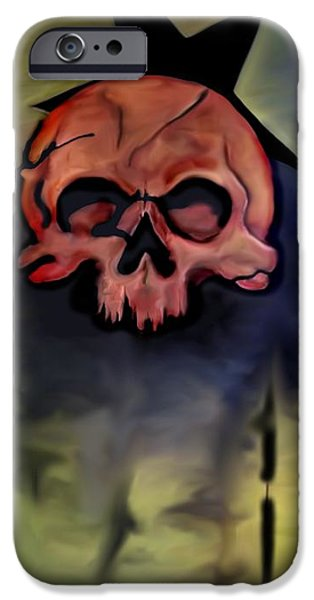 Tattoo Flash iPhone Cases - Twigman iPhone Case by Chris Gill