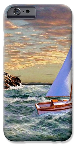 Twilight at Portland iPhone Case by Ronald Chambers