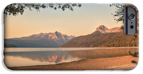 Recently Sold -  - Haybale iPhone Cases - Twilight At Redfish Lake  iPhone Case by Robert Bales