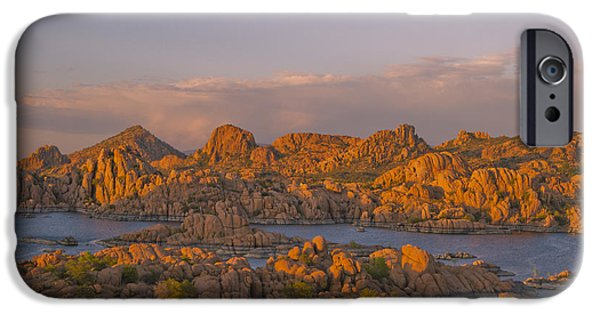 Prescott iPhone Cases - Twilight at the Dells iPhone Case by Tom Kelly