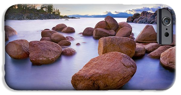 Lake Tahoe iPhone Cases - Twilight Cove - CraigBill.com - Open Edition iPhone Case by Craig Bill