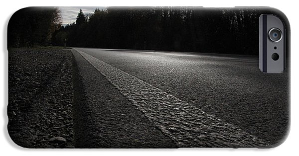 Asphalt iPhone Cases - Twilight Drive iPhone Case by Mountain Dreams