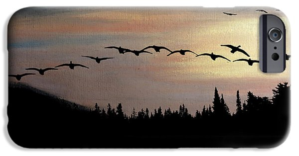 Dark Skies Pastels iPhone Cases - Twilight Glide iPhone Case by R Kyllo