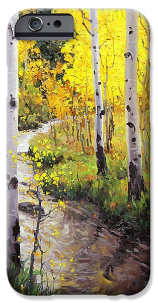 Twilight iPhone Cases - Twilight Glow Over Aspen iPhone Case by Gary Kim