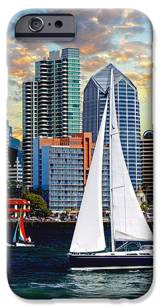 Pleasure Paintings iPhone Cases - Twilight Harbor Curise1 iPhone Case by Ronald Chambers