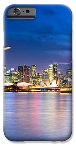 Twilight in Singapore iPhone Case by Ulrich Schade