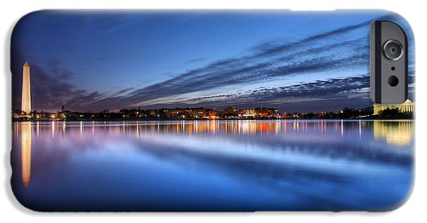 Landmarks Photographs iPhone Cases - Twilight  iPhone Case by JC Findley