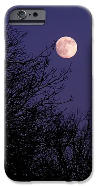 Moon iPhone Cases - Twilight Moon iPhone Case by Rona Black