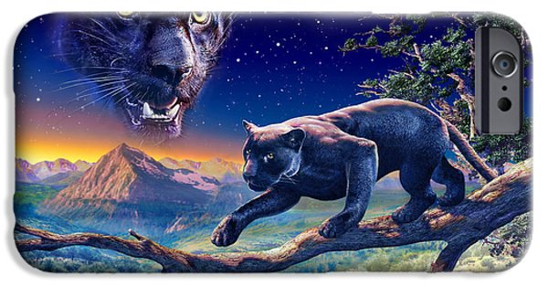 Exploration iPhone Cases - Twilight Panther iPhone Case by Adrian Chesterman