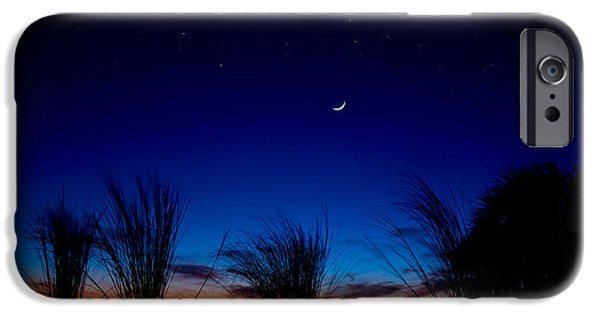 Moonscape iPhone Cases - Twilight Silhouettes iPhone Case by Mark Andrew Thomas