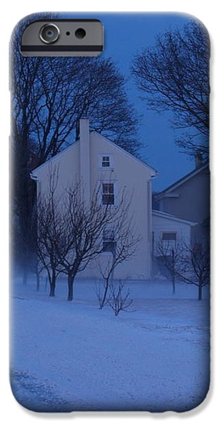 Twilight Snow on Bauman Road iPhone Case by Anna Lisa Yoder