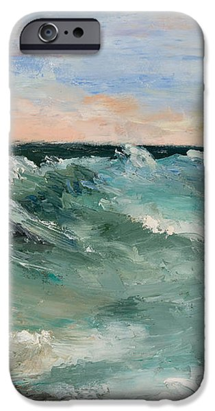 Twilight Surf iPhone Case by Larry Martin