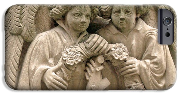 Miracle iPhone Cases - Twin Angels iPhone Case by Jean Hall