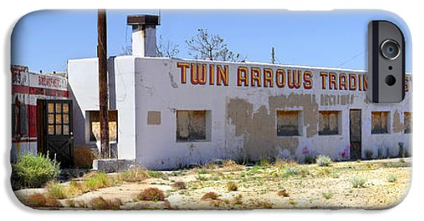 Ruin iPhone Cases - Twin Arrows Trading Post iPhone Case by Mike McGlothlen