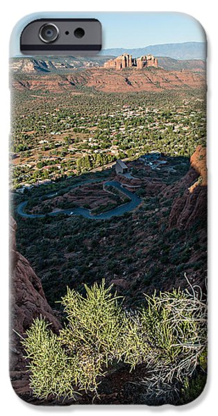 Cathedral Rock iPhone Cases - Twin Buttes 04-045 iPhone Case by Scott McAllister