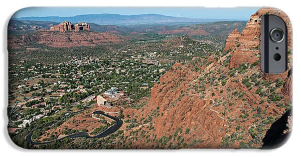 Cathedral Rock iPhone Cases - Twin Buttes 04-058 iPhone Case by Scott McAllister