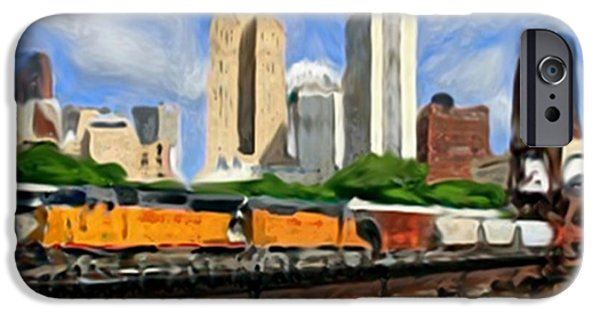 Minnesota Twins Mixed Media iPhone Cases - Twin Cities Train iPhone Case by Dennis Buckman