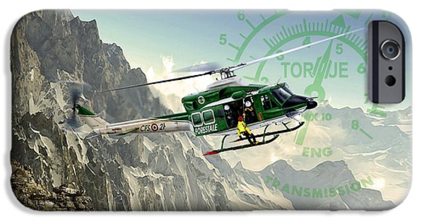 Iraq Digital iPhone Cases - Twin Huey iPhone Case by Peter Van Stigt