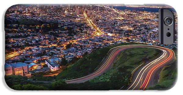 San Francisco Bay Bridge iPhone Cases - Twin Peaks Bender iPhone Case by Sean Foster