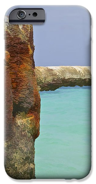 Twin Rusted Dock Piers of the Caribbean iPhone Case by David Letts