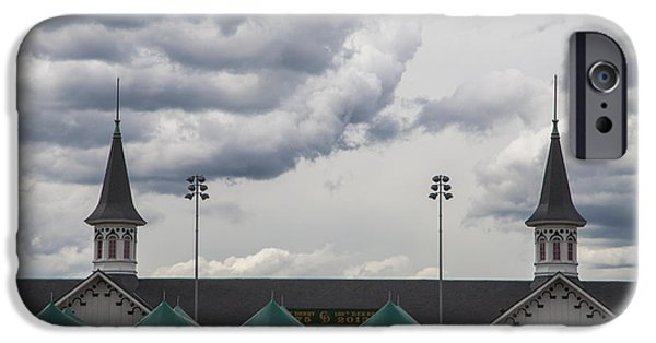 Kentucky Derby Photographs iPhone Cases - Twin Spires at Churchill Downs  iPhone Case by John McGraw