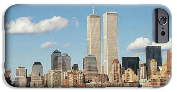 Twin Towers Nyc iPhone Cases - Twin Towers iPhone Case by Angela Inguaggiato