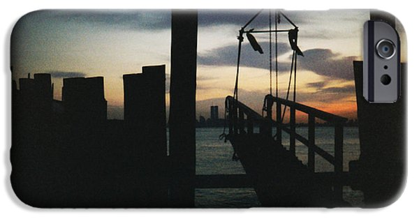 Twin Towers Nyc iPhone Cases - Twin Towers at Dawn iPhone Case by Glenn Scano