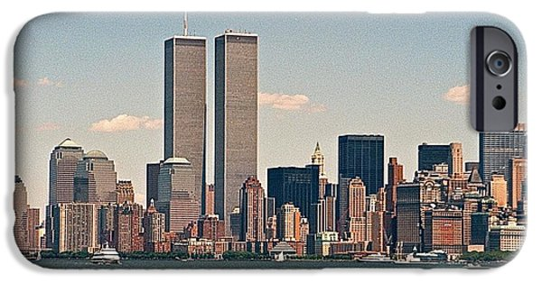 Twin Towers Nyc iPhone Cases - Twin Towers iPhone Case by Debbie Nobile