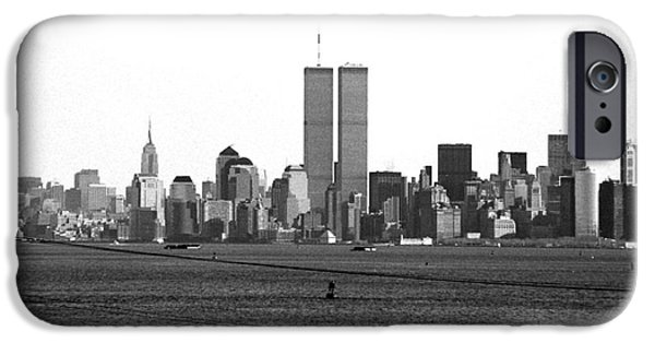 Twin Towers Nyc iPhone Cases - Twin Towers from Staten Island iPhone Case by John Rizzuto